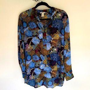 H&M Floral Blouse - size 14